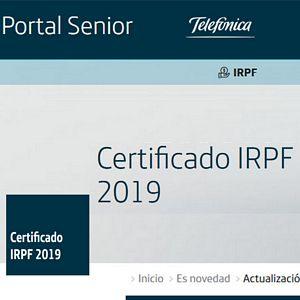 Certificado IRPF 2019